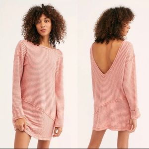 NEW Free People Shred The Thread Striped Tunic Sm